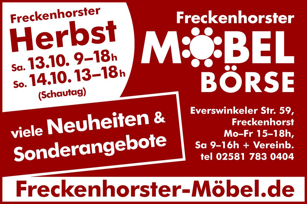 Freckenhorster Möbelbörse - Sonderöffnungszeiten zum Freckenhorster Herbst